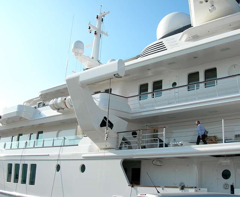 Redesign-and-replace-complete-hydro-electric-control-system-for--4-x-davits-93M-Yacht