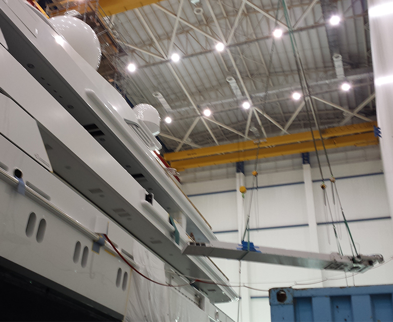 Accomodation-ladder-overhaul-as-part-of-major-refit-on-80M-yacht