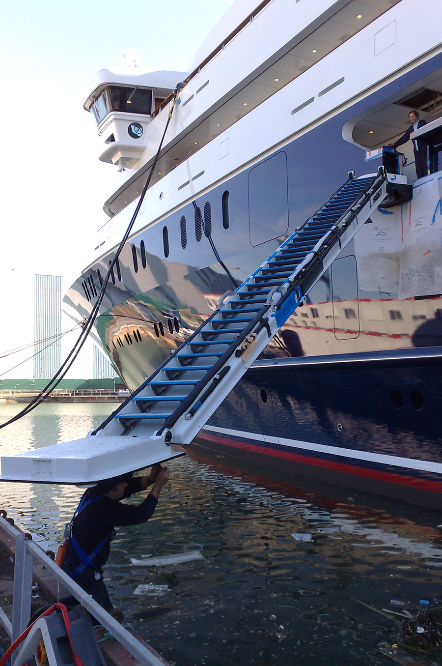 Design,-Build-and-install-2-x-accomodation-ladders-135M-Yacht