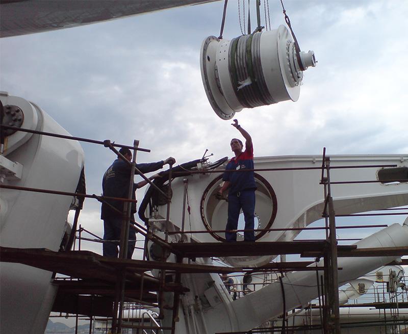 Major-Overhaul-of-4-x-20-ton-davits