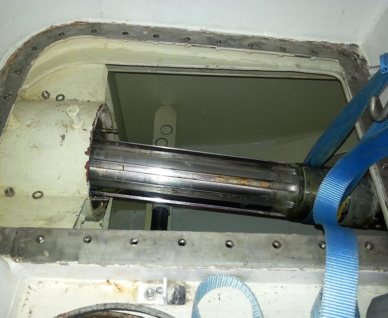 Removal-of-worn-stern-door-hinge-Pin