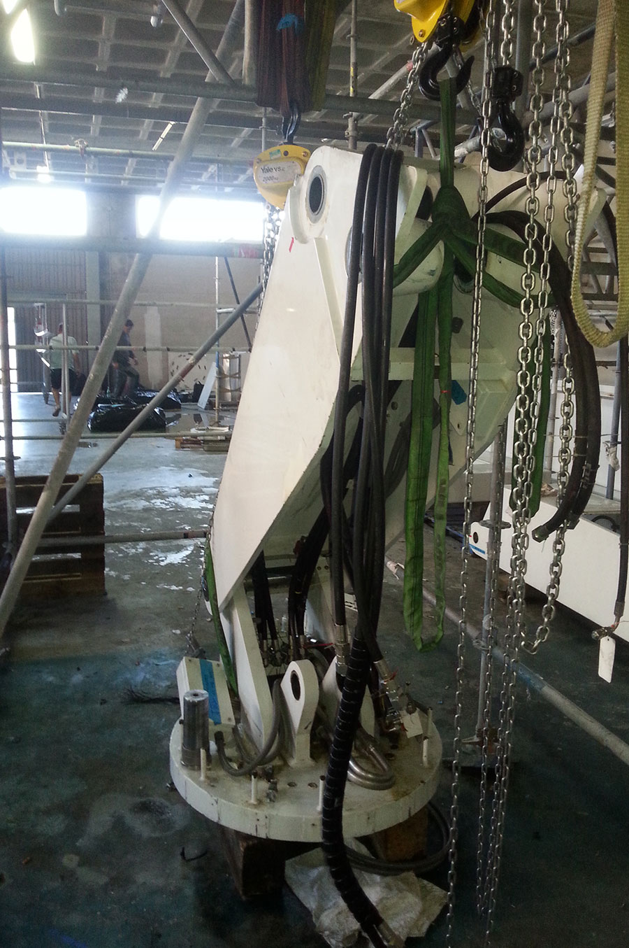 Rescue-boat-crane--disassembly